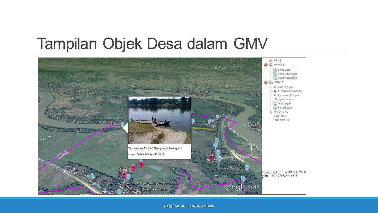 Tampilan Objek Desa dalam GMV