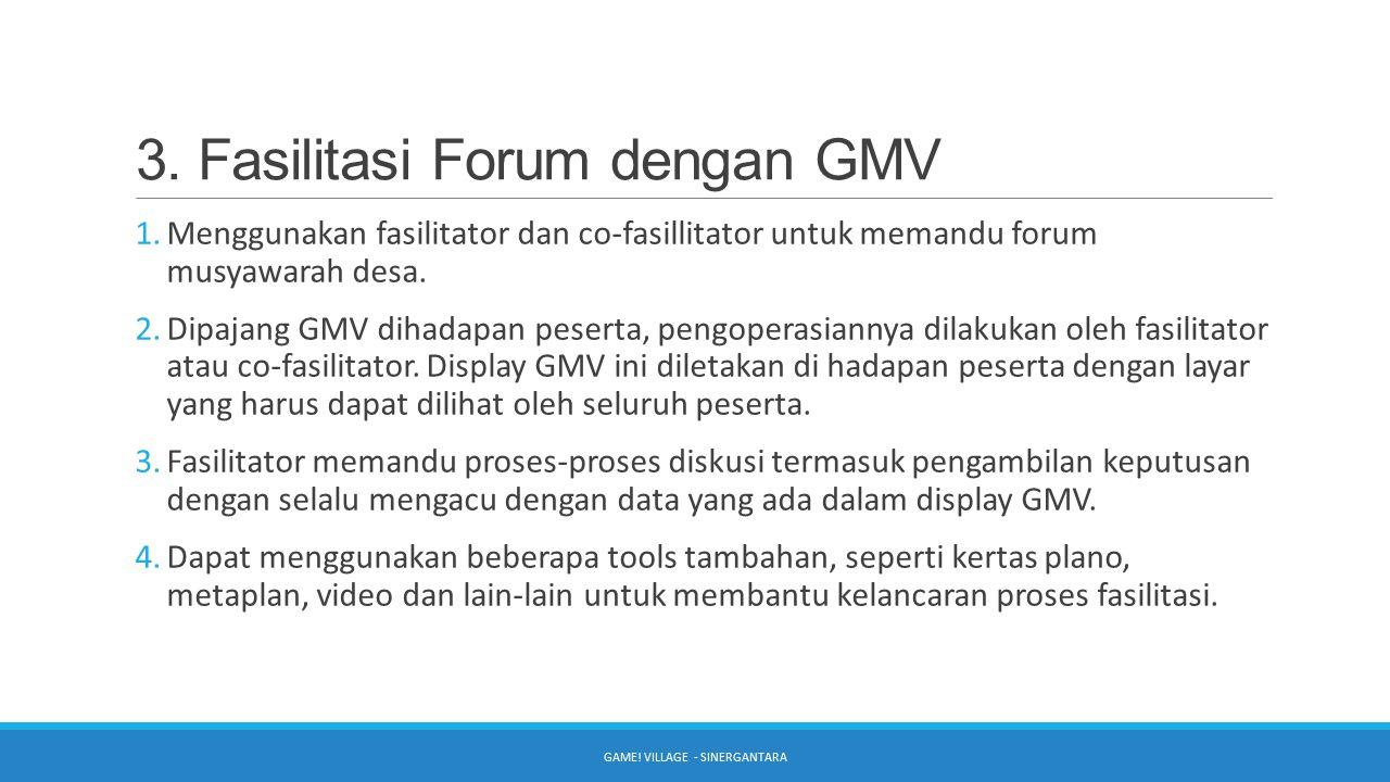 3. Fasilitasi Forum dengan GMV