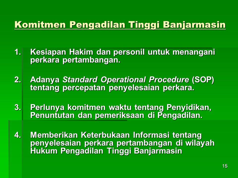 Komitmen Pengadilan Tinggi Banjarmasin