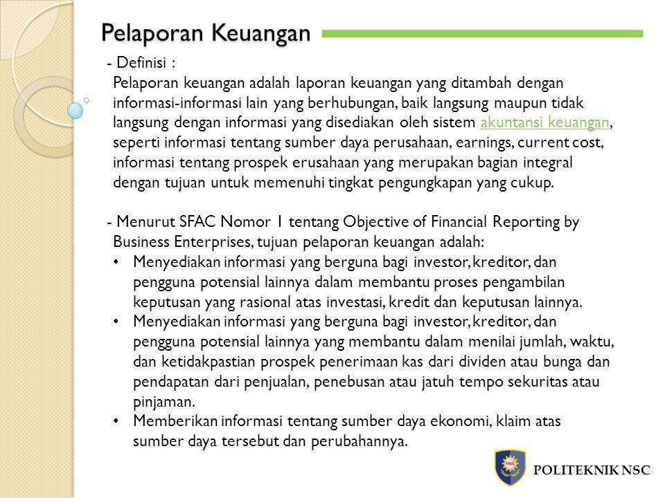 Pelaporan Keuangan - Definisi :