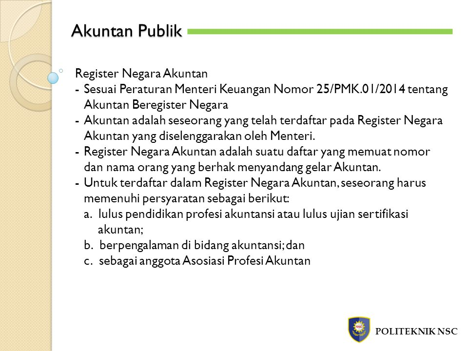 Akuntan Publik Register Negara Akuntan