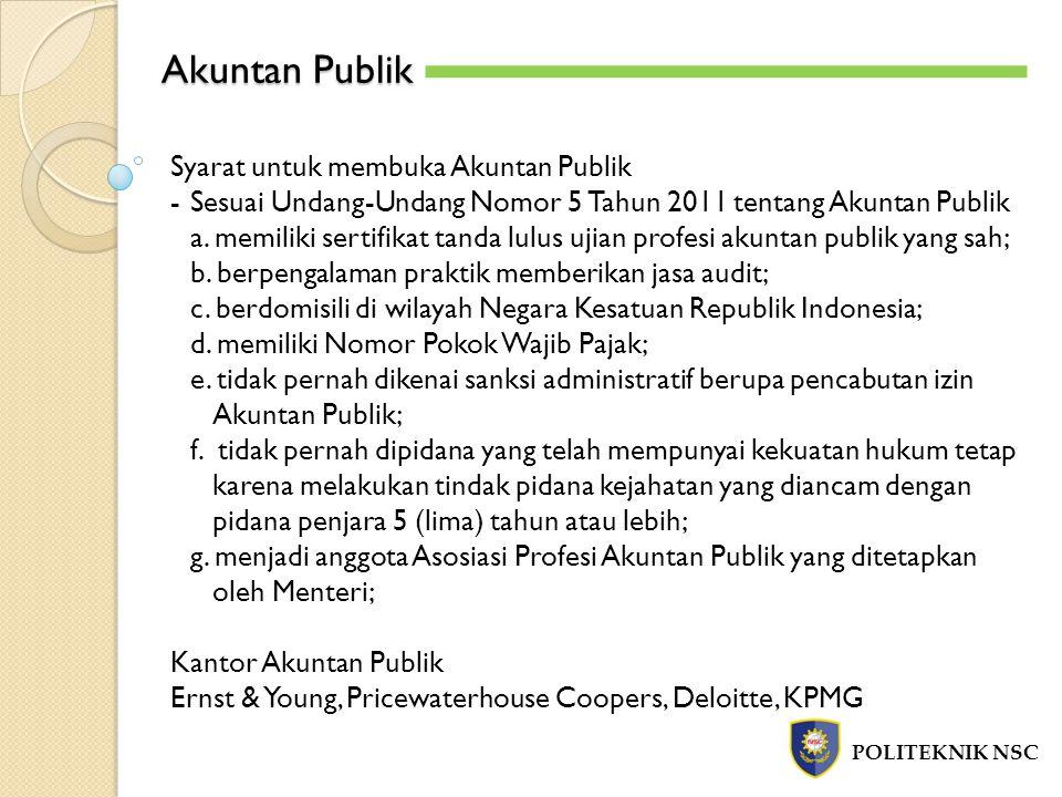 Akuntan Publik Syarat untuk membuka Akuntan Publik
