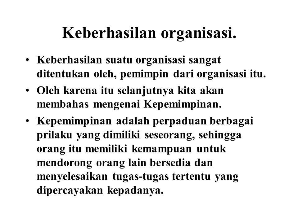 Keberhasilan organisasi.