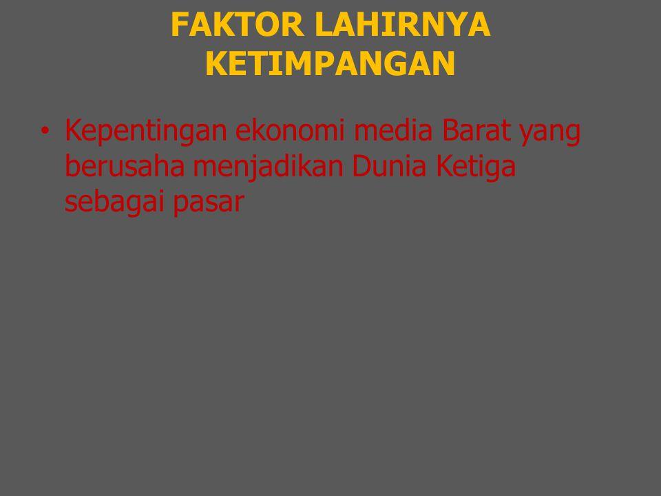 FAKTOR LAHIRNYA KETIMPANGAN