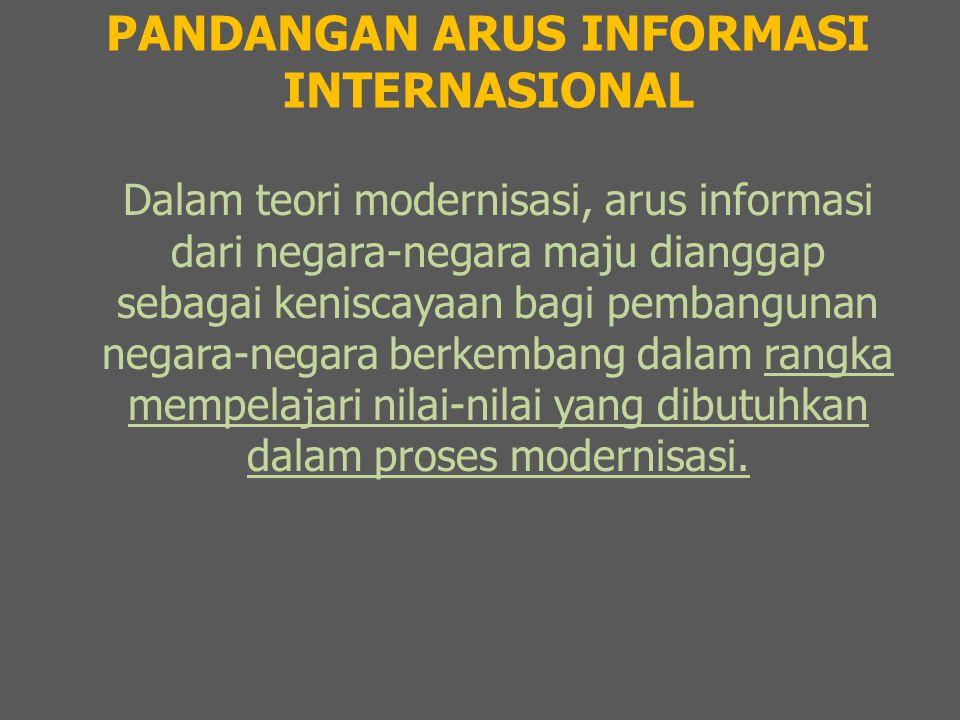 PANDANGAN ARUS INFORMASI INTERNASIONAL