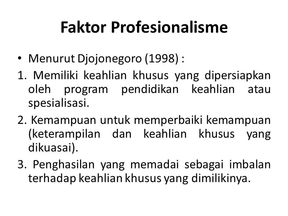 Faktor Profesionalisme