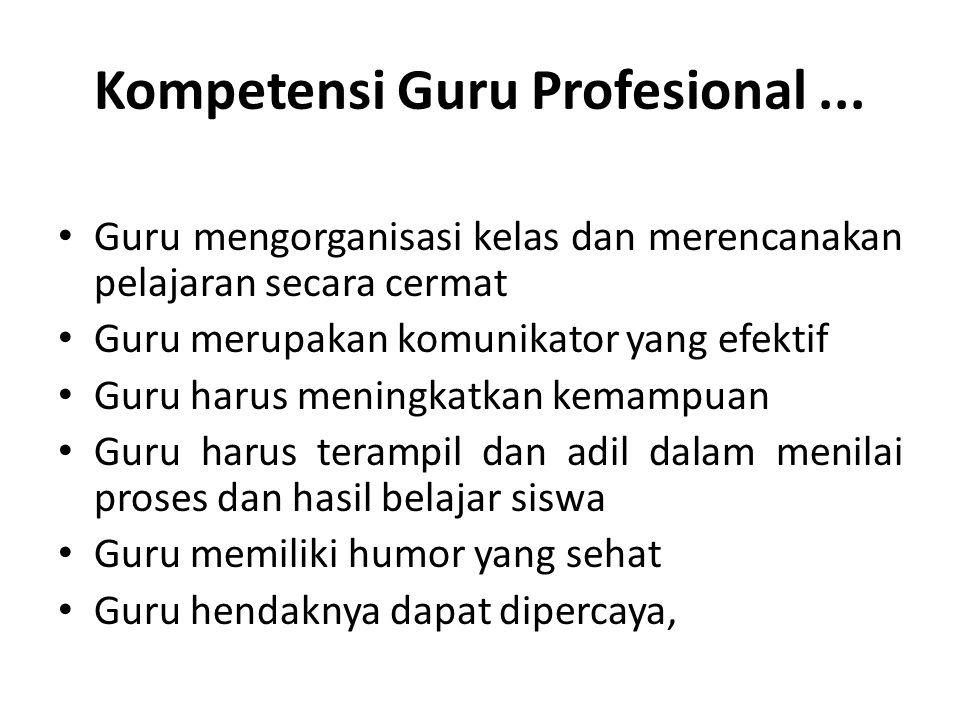 Kompetensi Guru Profesional ...