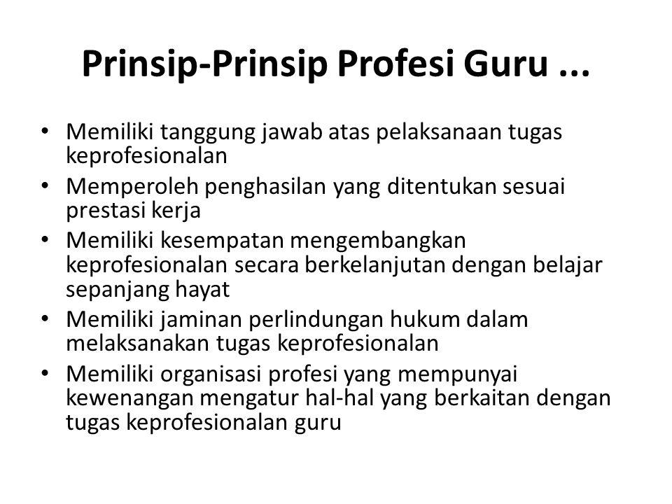 Prinsip-Prinsip Profesi Guru ...