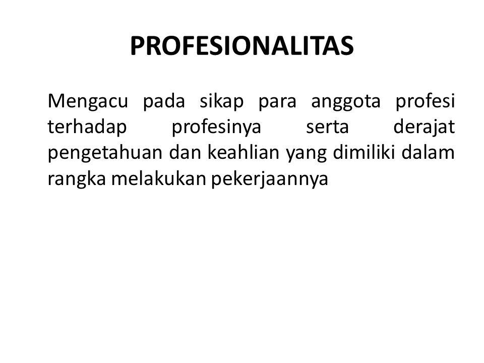 PROFESIONALITAS