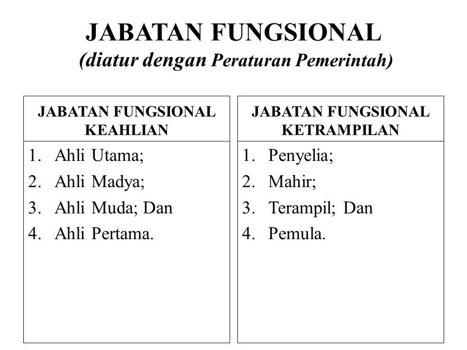 JABATAN FUNGSIONAL (diatur dengan Peraturan Pemerintah)
