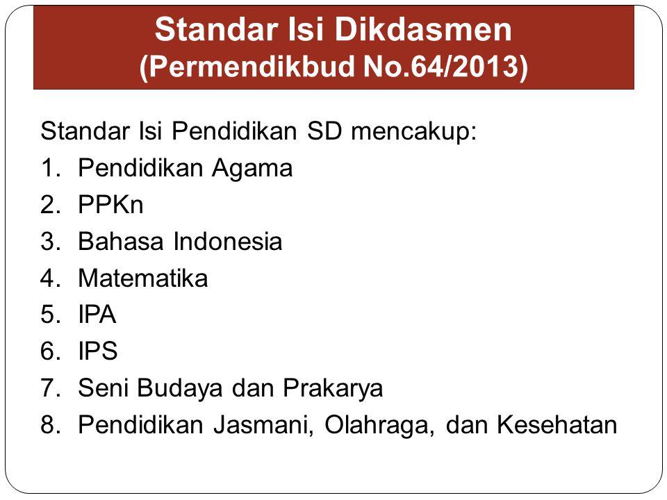 Standar Isi Dikdasmen (Permendikbud No.64/2013)