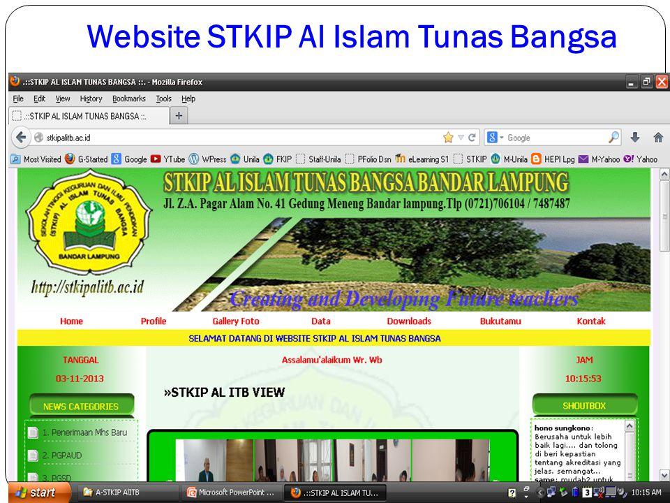 Website STKIP Al Islam Tunas Bangsa
