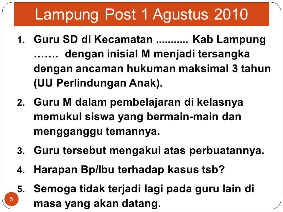 Lampung Post 1 Agustus 2010