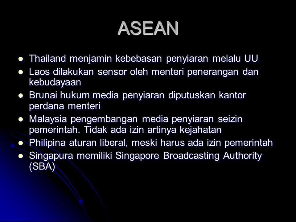 ASEAN Thailand menjamin kebebasan penyiaran melalu UU