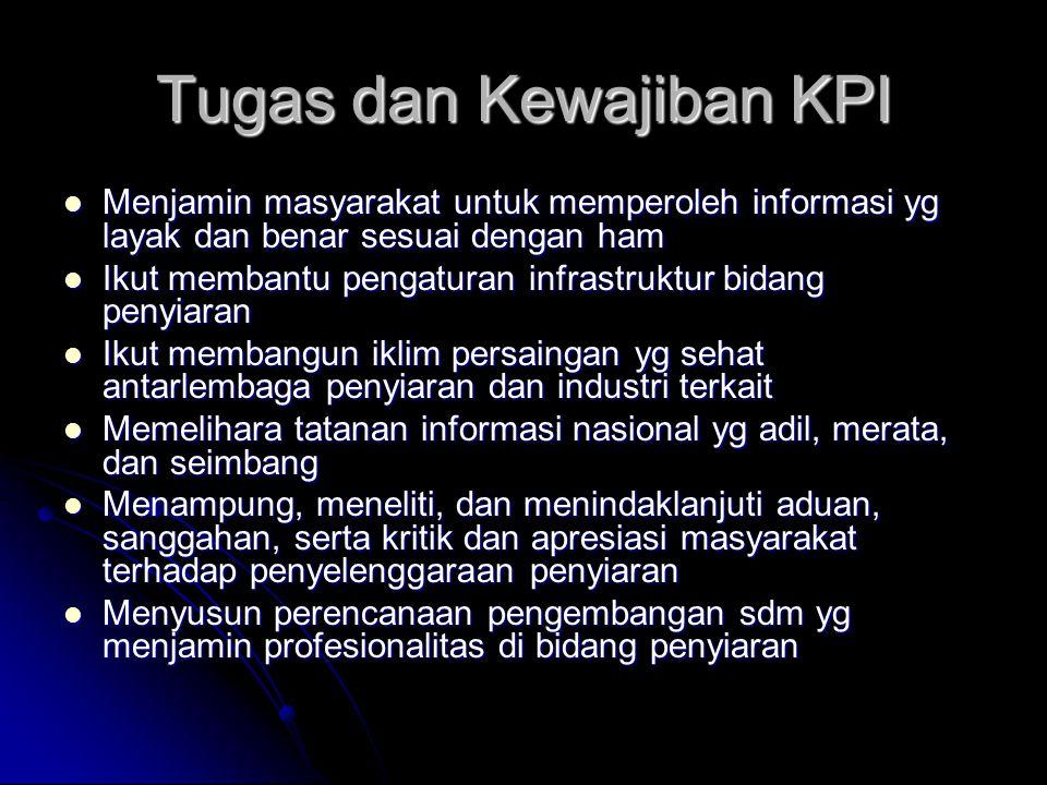 Tugas dan Kewajiban KPI