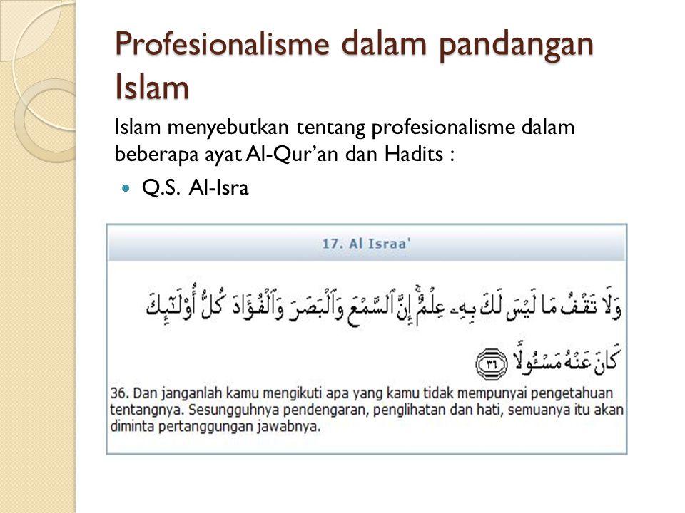 Profesionalisme dalam pandangan Islam