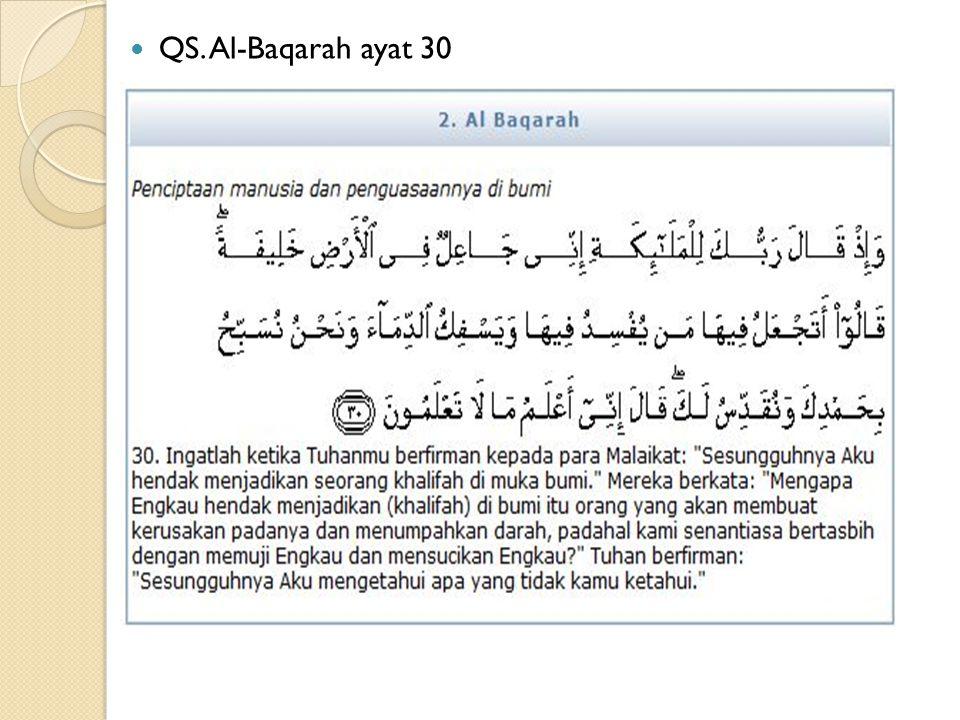 QS. Al-Baqarah ayat 30