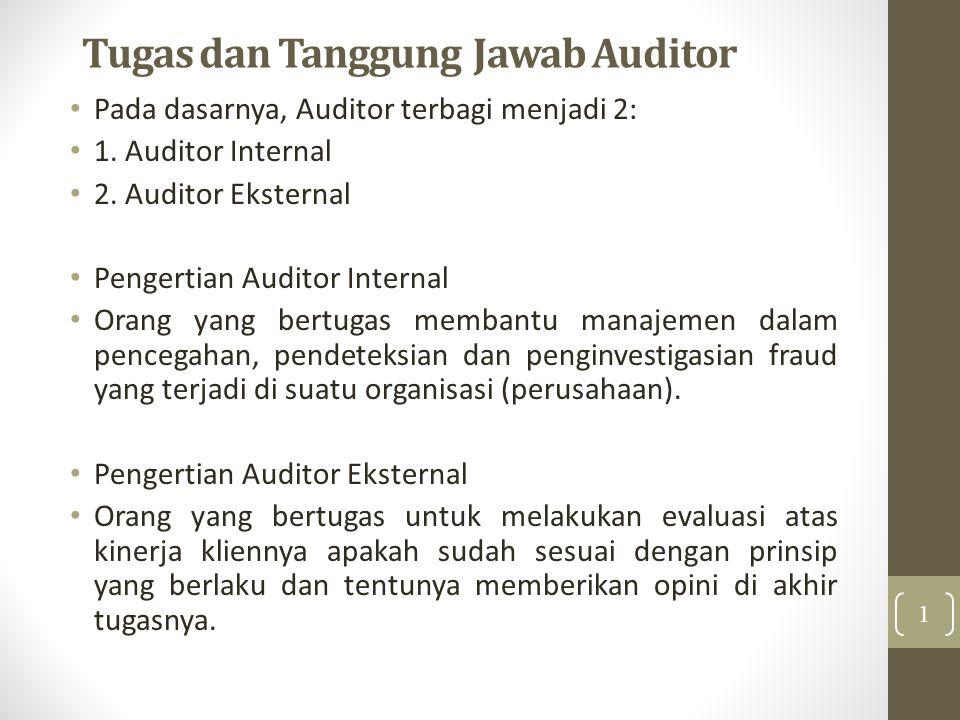 Tugas dan Tanggung Jawab Auditor
