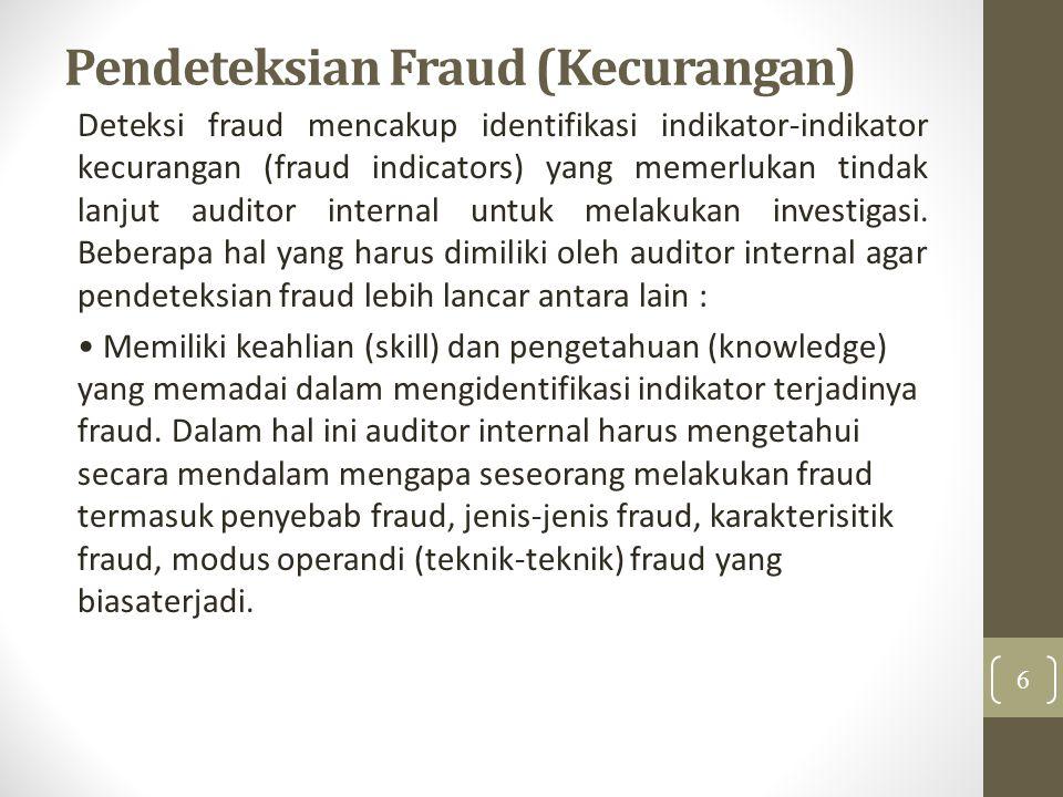 Pendeteksian Fraud (Kecurangan)