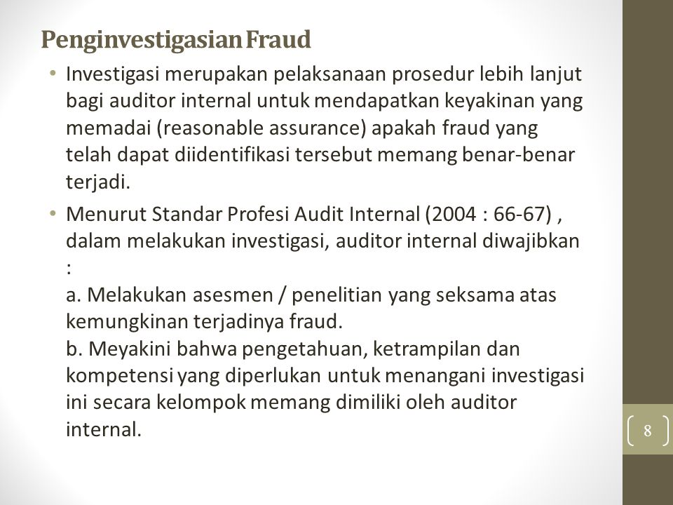 Penginvestigasian Fraud