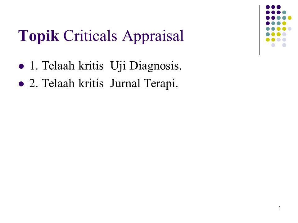 Topik Criticals Appraisal