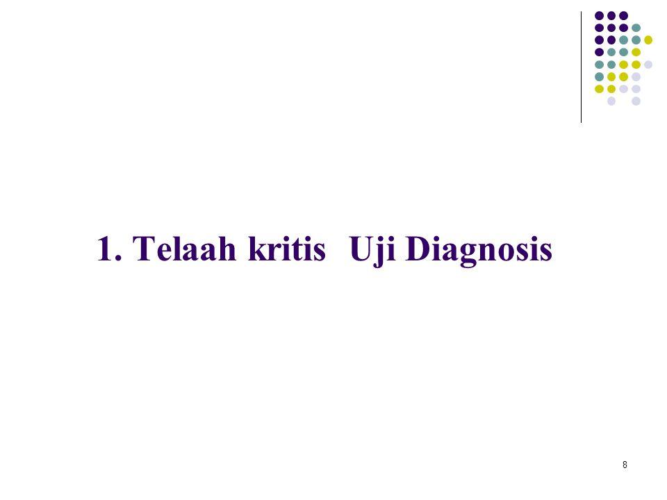 1. Telaah kritis Uji Diagnosis