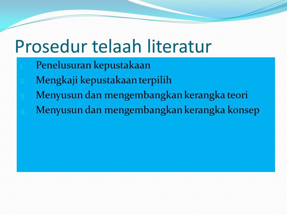 Prosedur telaah literatur