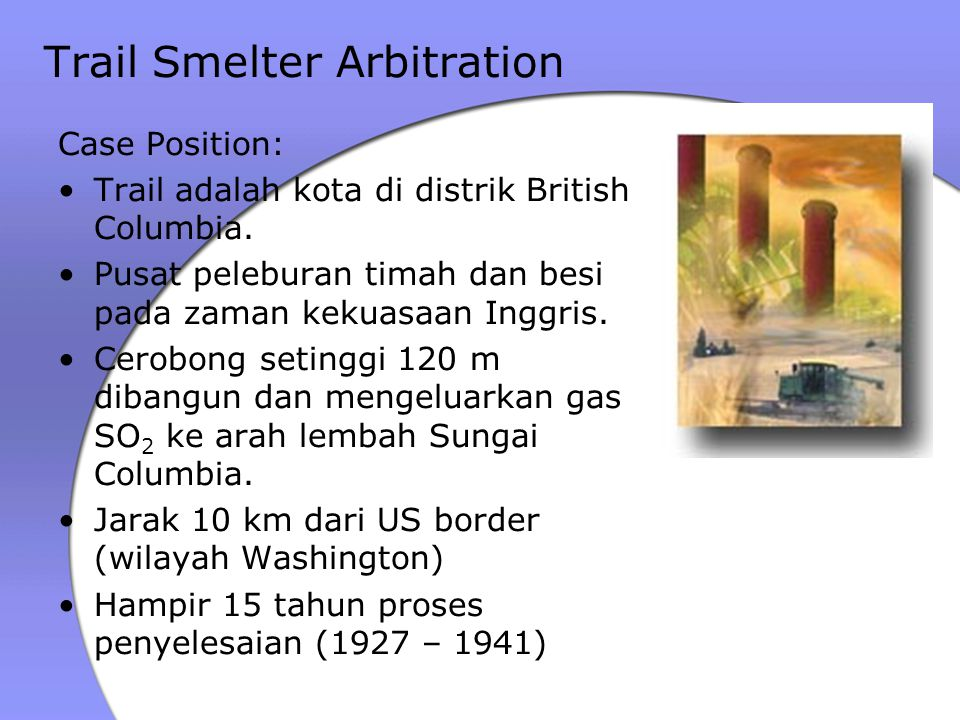 Trail Smelter Arbitration