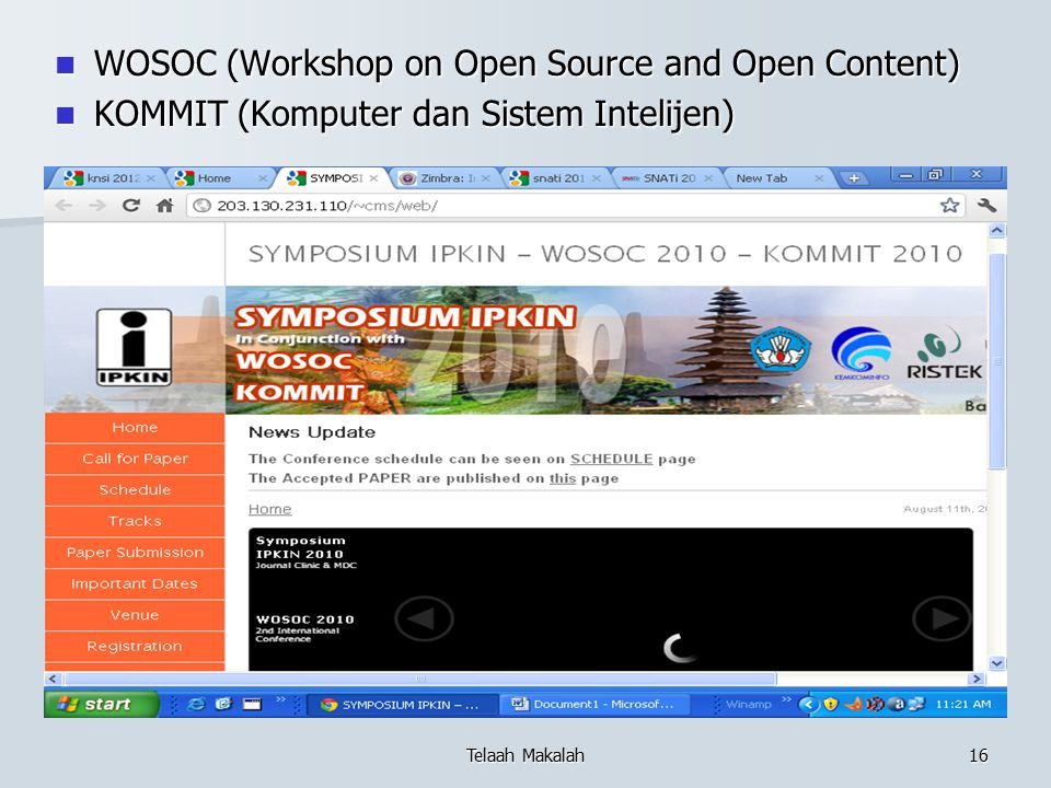 WOSOC (Workshop on Open Source and Open Content)