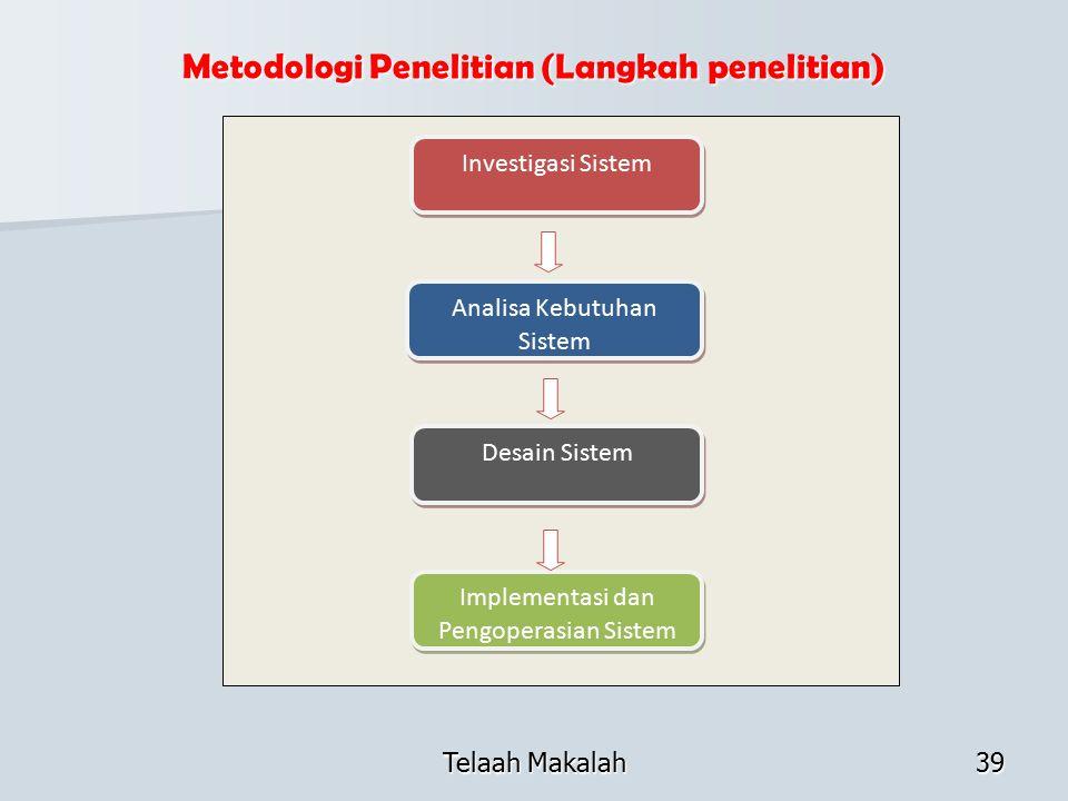 Metodologi Penelitian (Langkah penelitian)