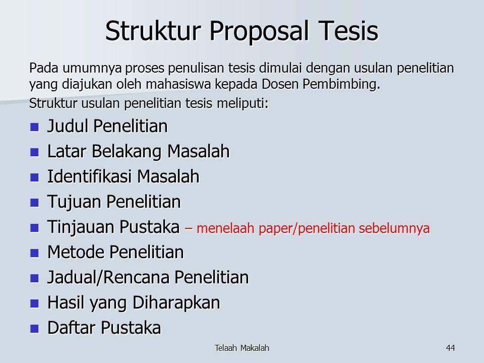 Struktur Proposal Tesis