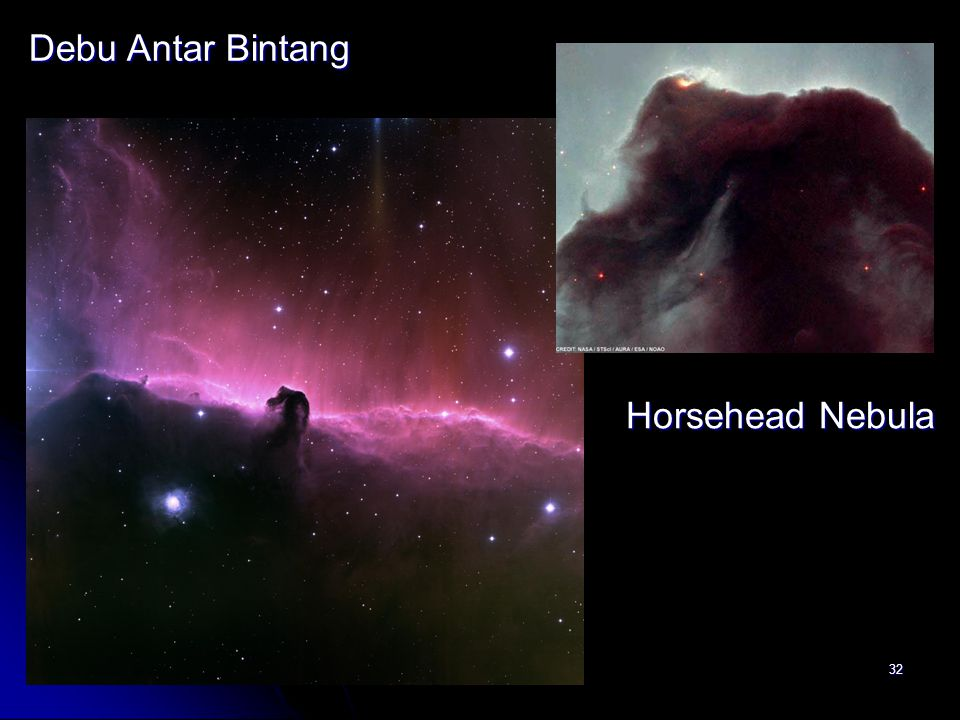 Debu Antar Bintang Horsehead Nebula