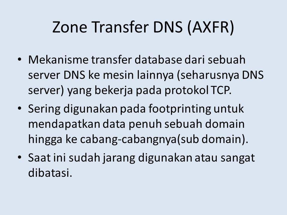 Zone Transfer DNS (AXFR)