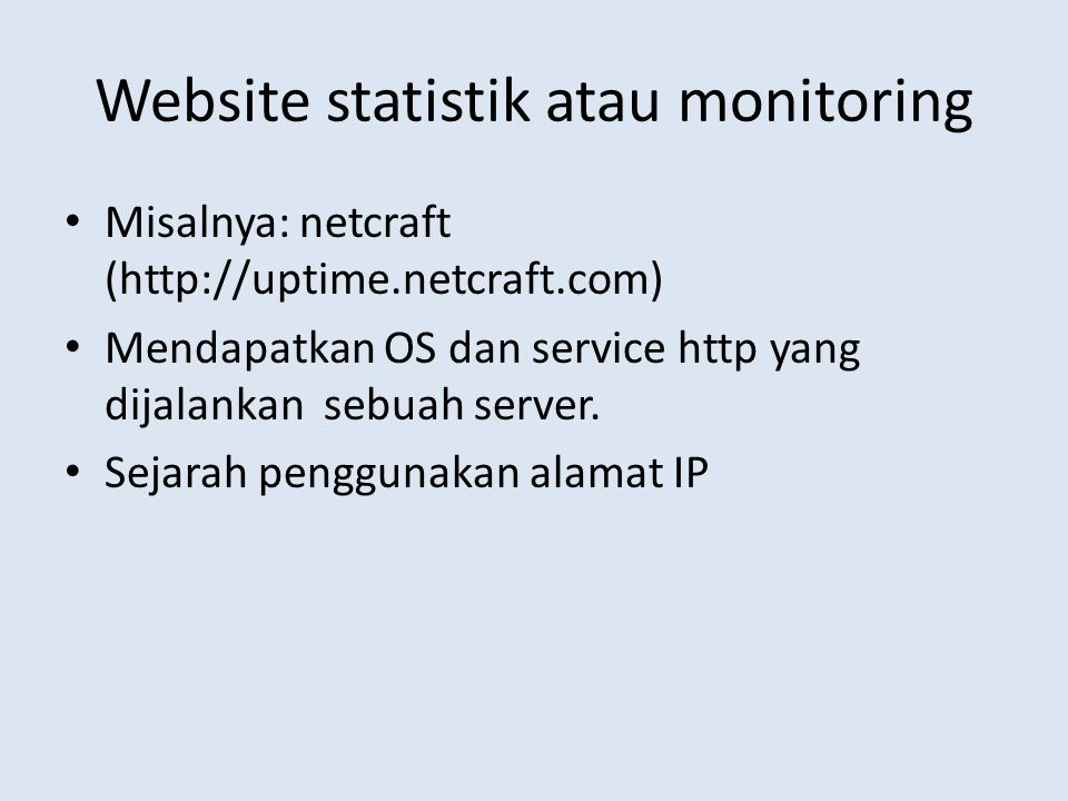Website statistik atau monitoring