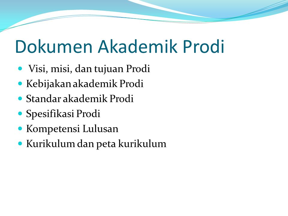 Dokumen Akademik Prodi