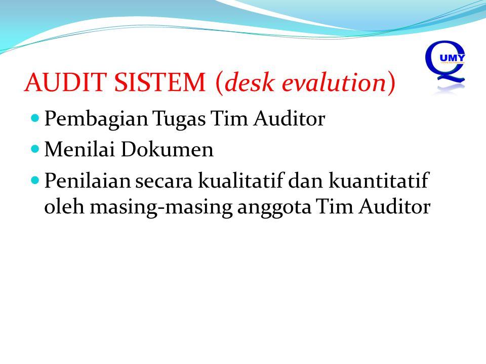 AUDIT SISTEM (desk evalution)