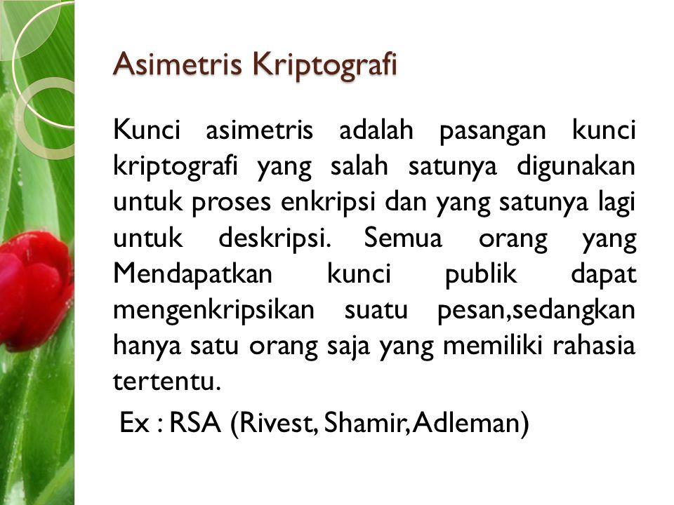 Asimetris Kriptografi