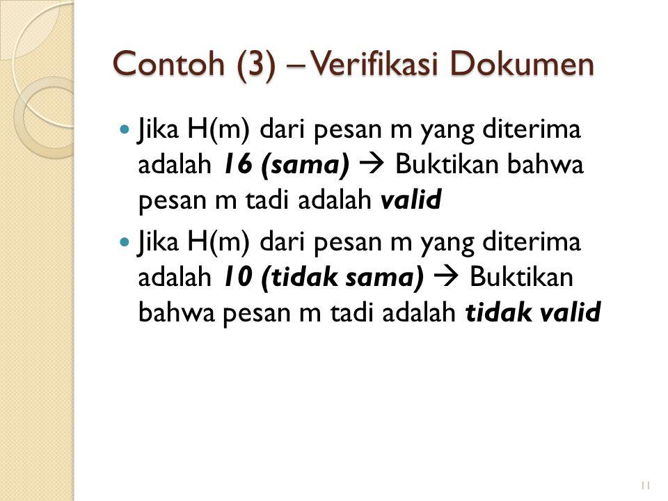 Contoh (3) – Verifikasi Dokumen