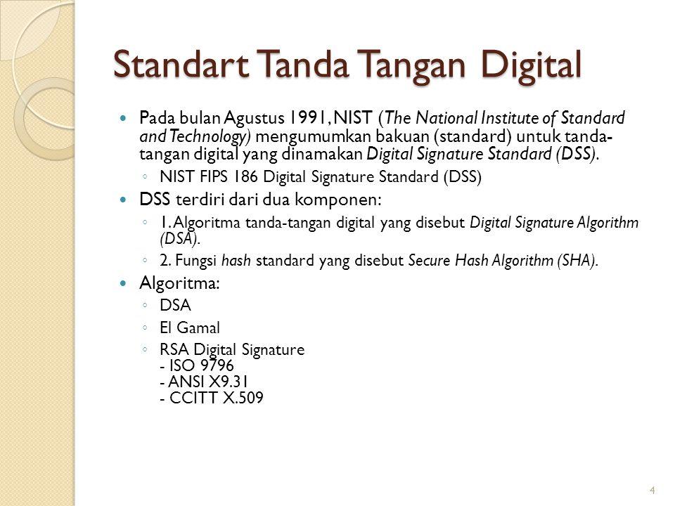 Standart Tanda Tangan Digital