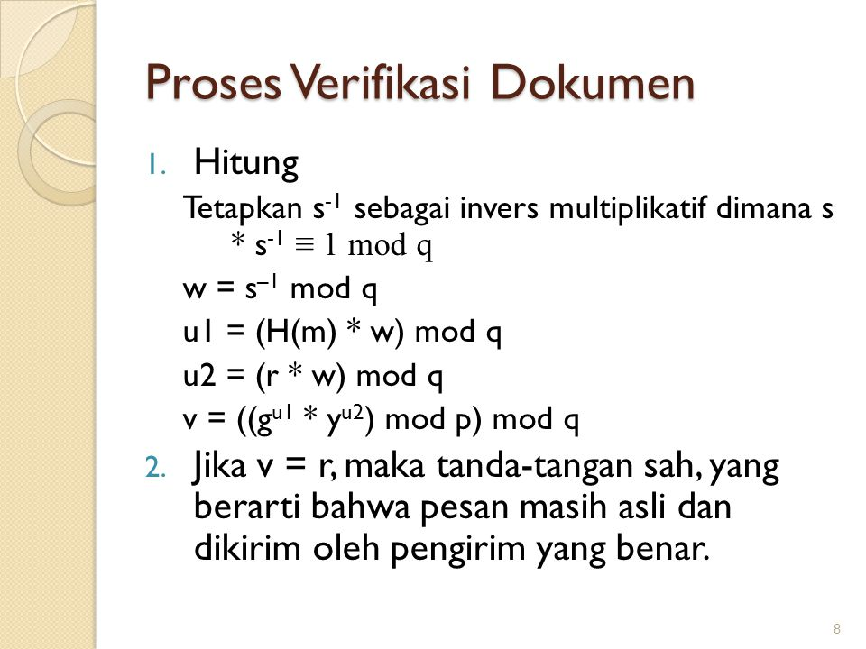 Proses Verifikasi Dokumen