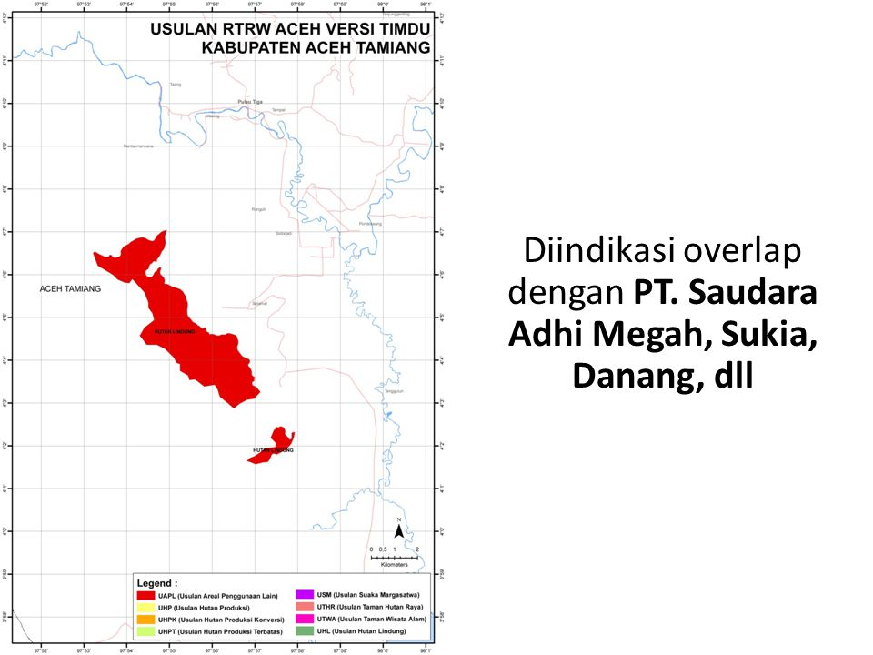 Diindikasi overlap dengan PT. Saudara Adhi Megah, Sukia, Danang, dll