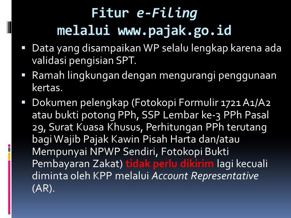 Fitur e-Filing melalui www.pajak.go.id