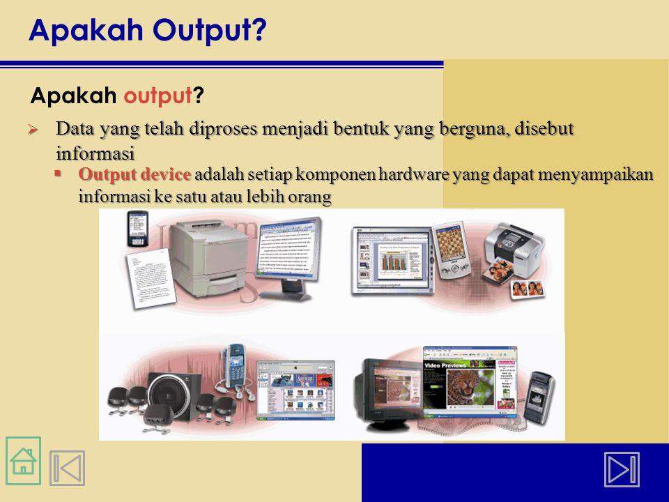 Apakah Output Apakah output