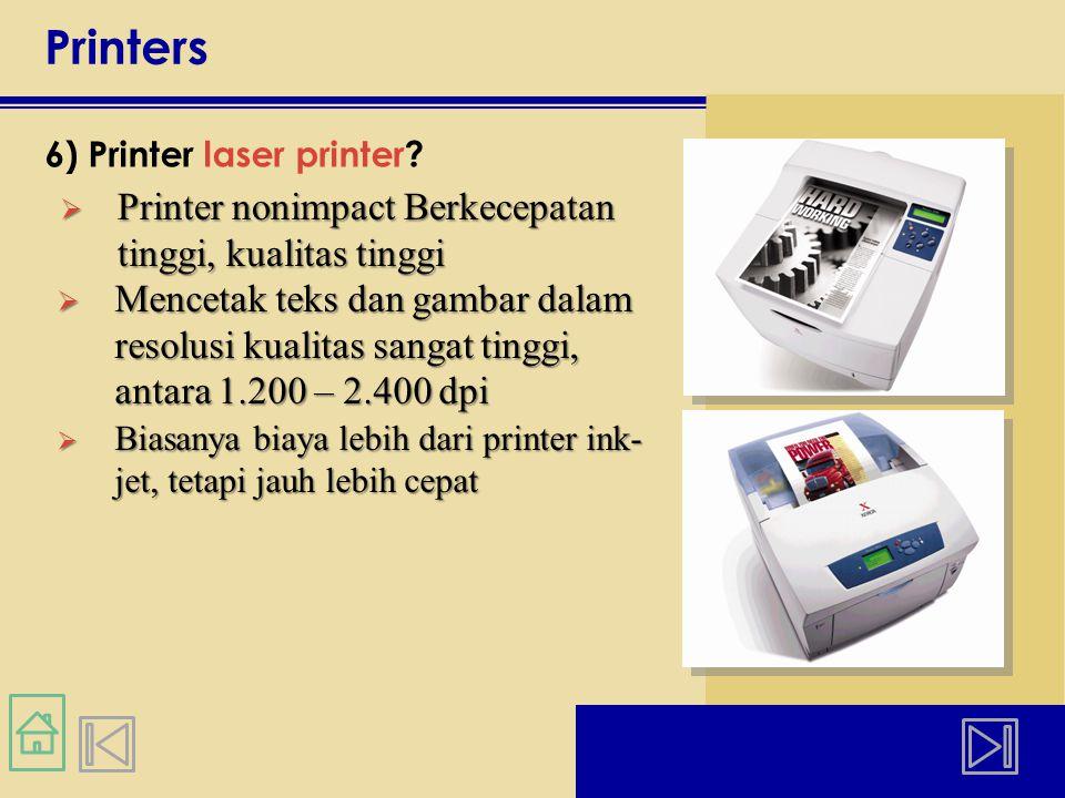 Printers Printer nonimpact Berkecepatan tinggi, kualitas tinggi