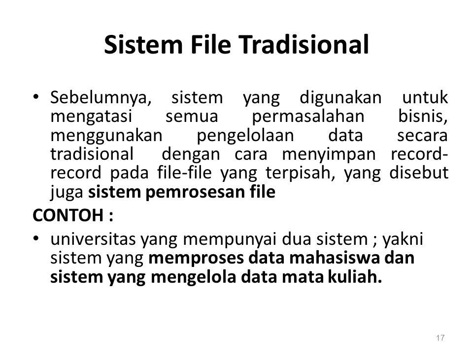 Sistem File Tradisional