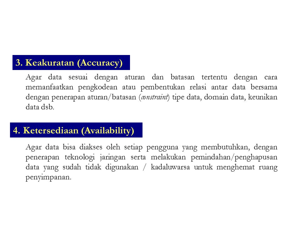 3. Keakuratan (Accuracy)