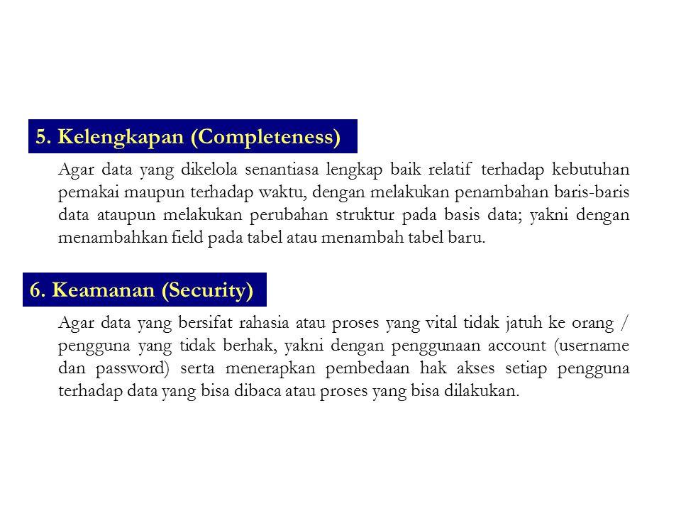 5. Kelengkapan (Completeness)