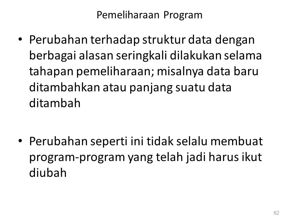 Pemeliharaan Program