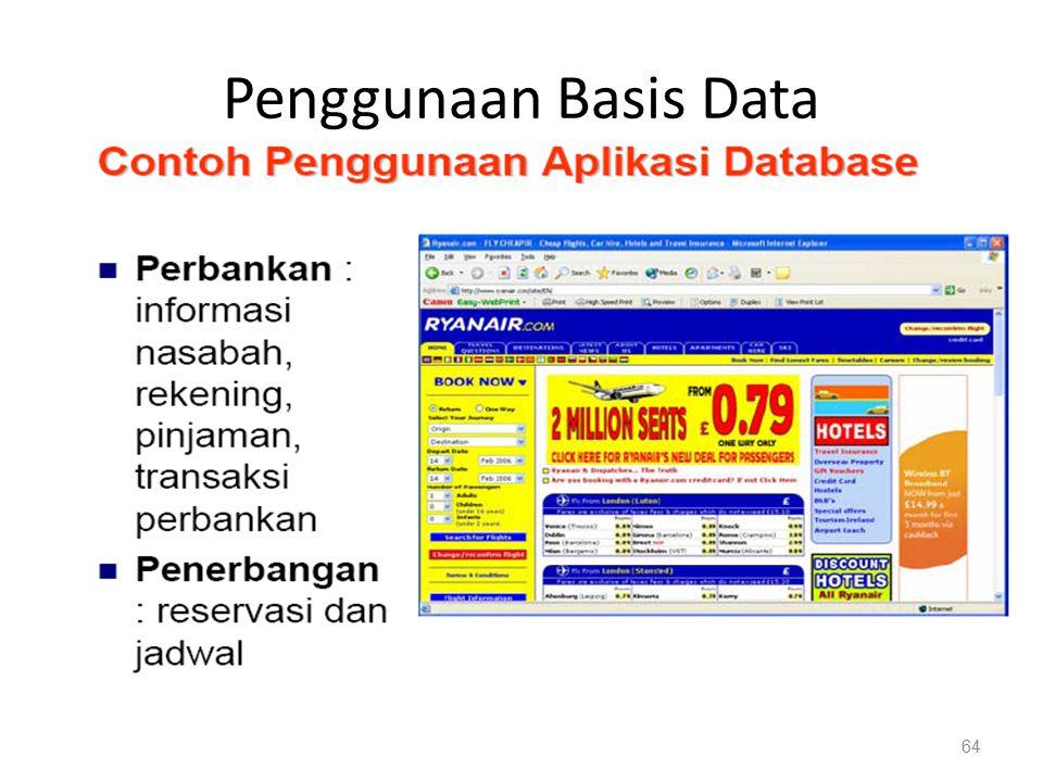 Penggunaan Basis Data