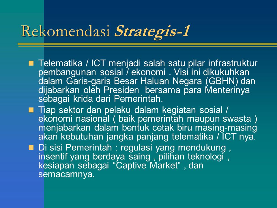 Rekomendasi Strategis-1